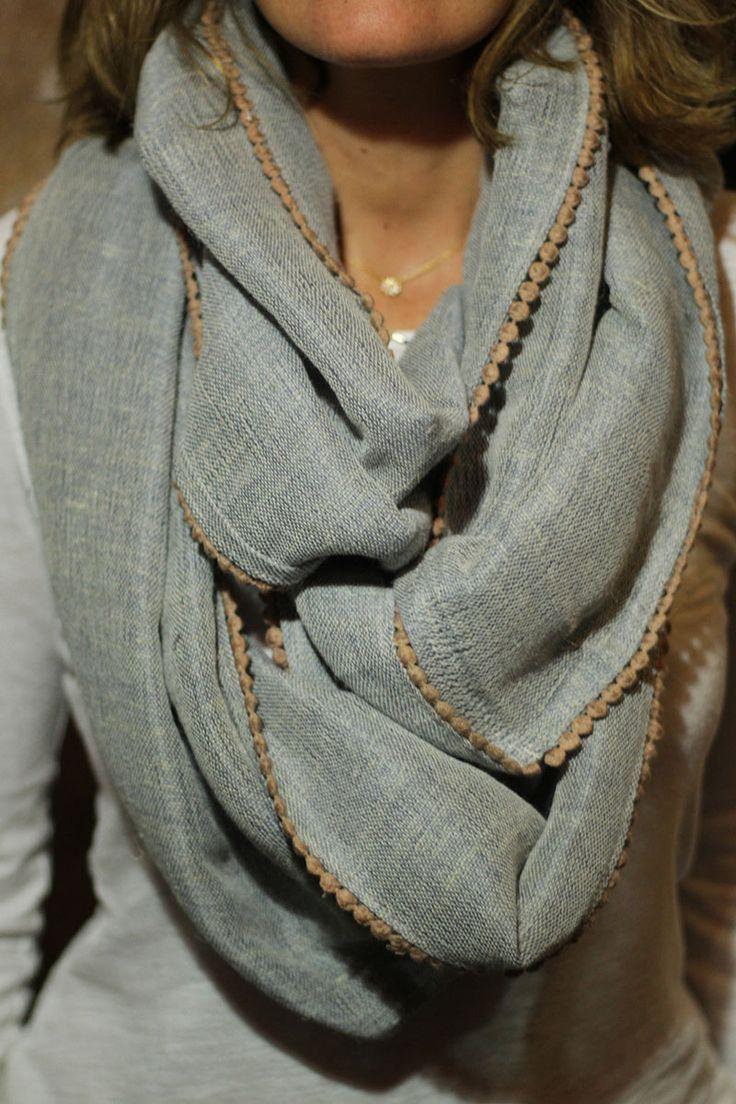Lorenza Filati   Neutral infinity scarf   Just a Pretty Style
