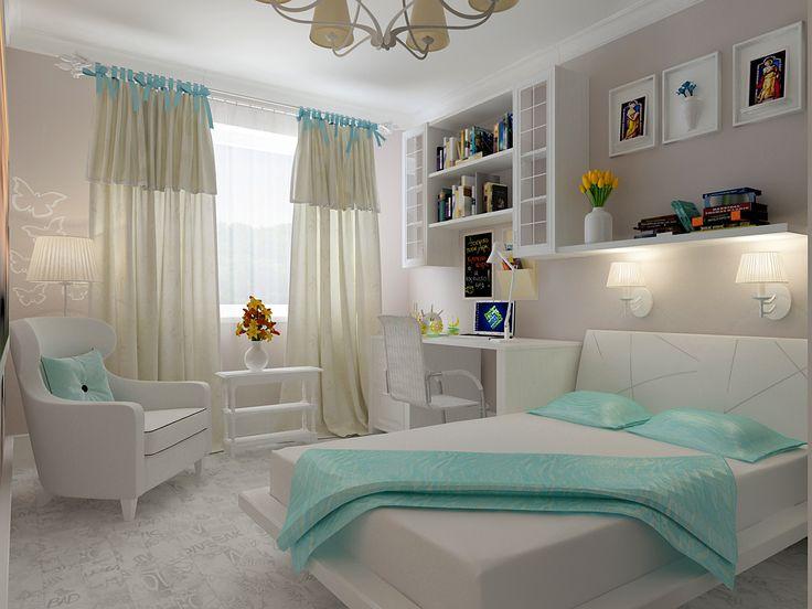 Big kid bedroom. I like the built in desk!