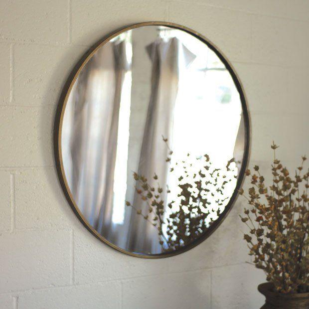 Round Brass Frame Mirror Mirror Wall Mirror Rectangle Mirror