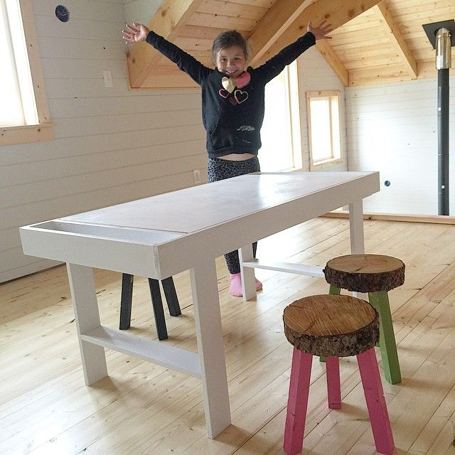 Pottery Barn Kids Inspired Art Table For Under $50! Plans By ANA WHITE.
