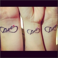 matching tattoos for mom and daughters. Too bad my mom is too scared to get one:(