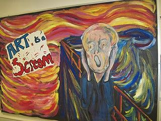 art bulletin board ideas pinterest | bulletin board