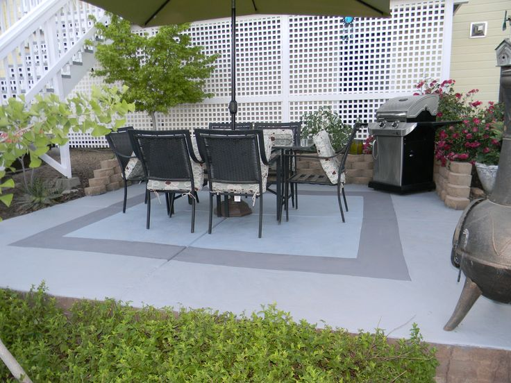 Attractive Painted Concrete Patio
