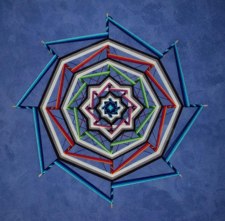 """Mandala """"Ojo de Dios"""" 8"""