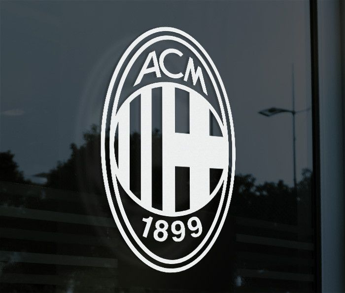 AC Milan Italy - Decal Sticker Show your support everywhere you go. Decorate your car or window with this Vinyl Decal Sticker! Made from High Quality, High durability Oracal Vinyl. Supplied with appli