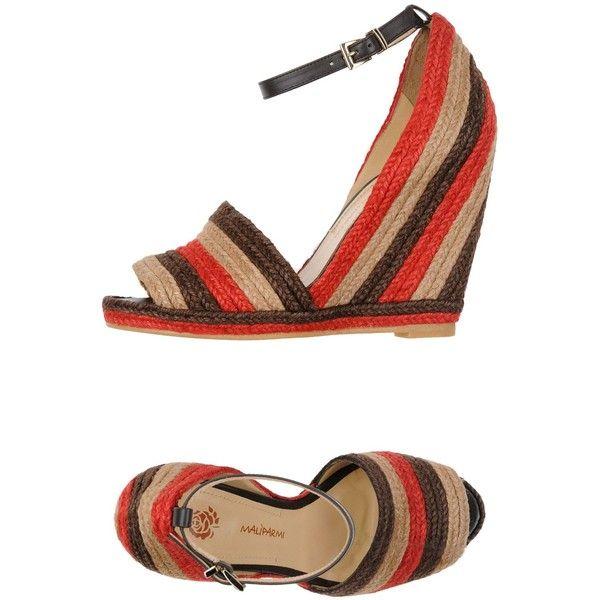 Malìparmi Espadrilles ($110) ❤ liked on Polyvore featuring shoes, sandals, dark brown, espadrille sandals, leather sandals, leather ankle strap sandals, ankle wrap sandals and ankle strap wedge sandals