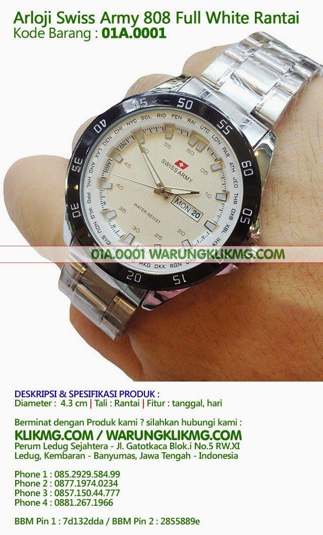 Arloji Swiss Army 808 Full White Rantai - Kode Barang : 01A.0001