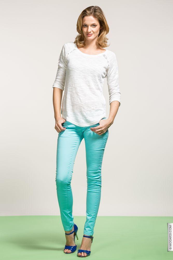 pantalons femme turquoise taille 40 achat en ligne. Black Bedroom Furniture Sets. Home Design Ideas