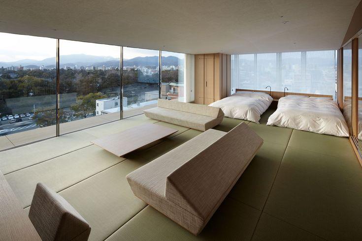 I just love the simplicity of this. kyoto kokusai hotel model room. by Kuma Kengo