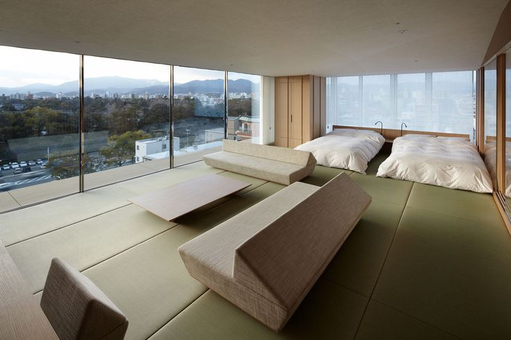 I just love the simplicity of this.   kyoto kokusai hotel model room.   by Kuma Kengo