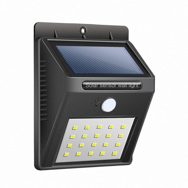 Solar Outdoor Light, Targher 20 LED Waterproof Solar Sensor Light, Bright Solar Security Light for Porch Patio Yard Garden Walkways Deck