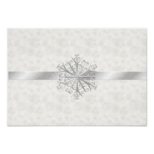 283 Best Images About Winter Snowflake Wedding Invitations On Pinterest