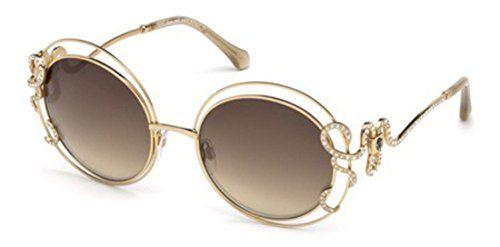 Sunglasses Roberto Cavalli CARDUCCI RC 1024 28G shiny rose gold / brown mirror