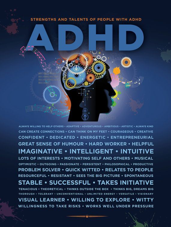 ADHD Poster - Strengths and Talents of people with ADHD