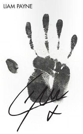 Twitter / 1Dneews: Liams's handprint for the 1D ...