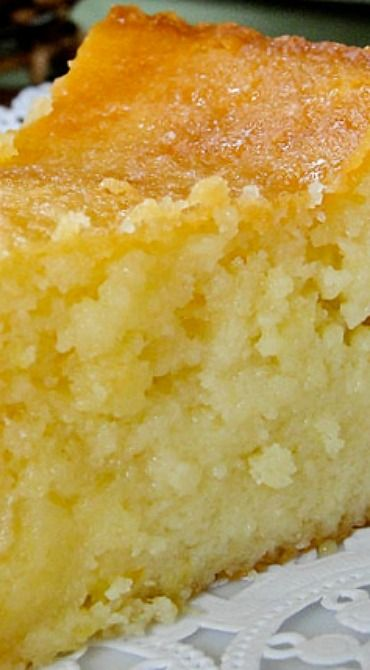 Sticky Lemon Cake Recipe ~ comfort baking at its best.