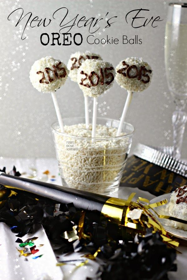 New Year's Eve Oreo Cookie Balls   Renee's Kitchen Adventures Ring in the New Year with these iconic Time Square balls! #ad #OREOCookieBalls