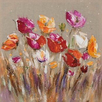 schilderij 70x70 bloemen