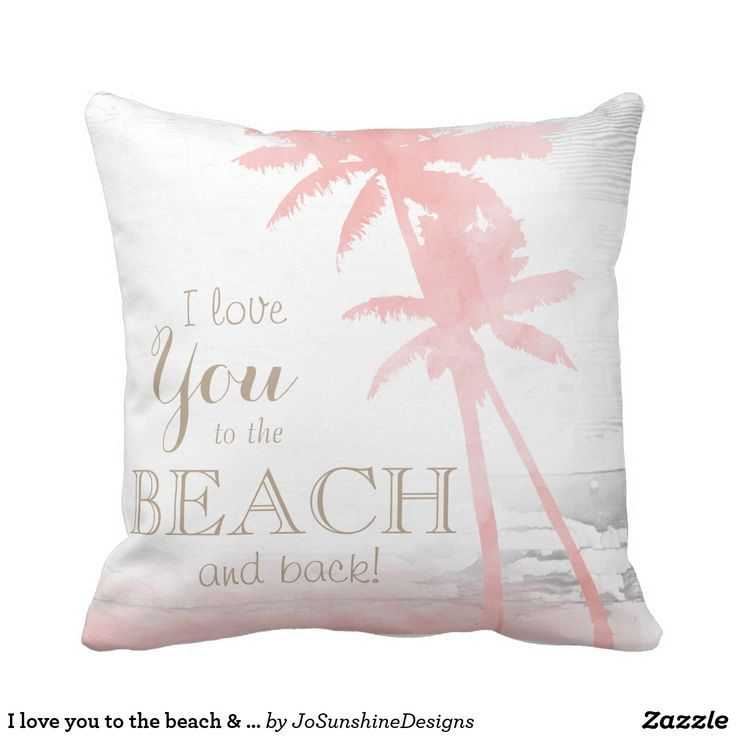 I love you to the beach & back palm tree wood