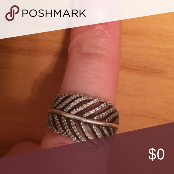 ISO!! Pandora Leaf Ring Size:8 ISO!! Pandora Leaf Ring Size:8 in silver! Pandora Jewelry Rings