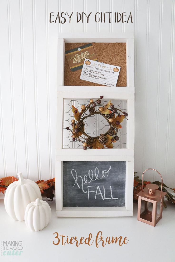 diy 3 tiered frame gift to make