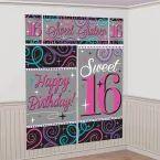 Sweet 16 Celebration Scene Setter 65in x 75in