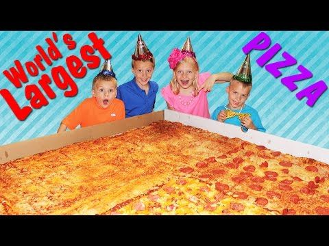 WORLD'S LARGEST PIZZA - YouTube
