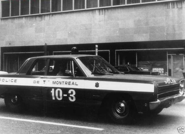 Canada- Montreal Police 1968 Plymouth
