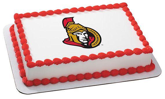 NHL Ottawa Senators Team Logo EDIBLE Image by CakesPopsCupcakes, $7.95