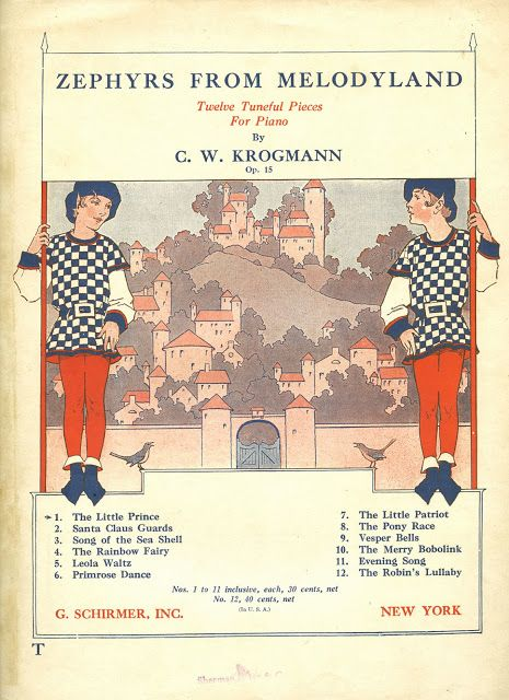 """The Little Prince"" from Zephyrs From Melodyland by C.W. Krogman Op. 15. G. Schirmer sheet music from 1926. #music #GSchirmer #vintage"