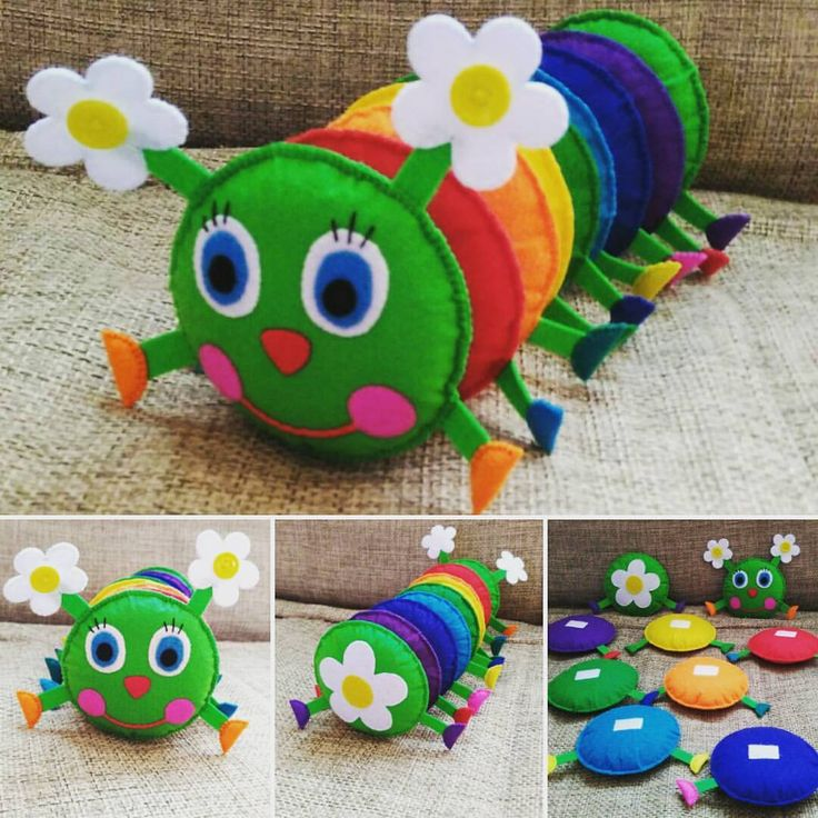 Felt caterpillar toy