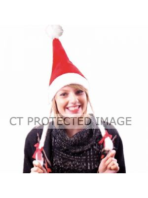 Santa Hat With Pigtails Order Now