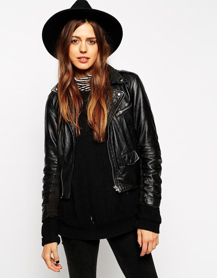 €32, Sombrero de Lana Negro de Asos. De Asos. Detalles: https://lookastic.com/women/shop_items/200939/redirect