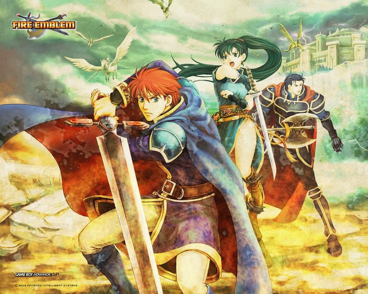 Fire Emblem: Hector, Elewood, and Lyndis