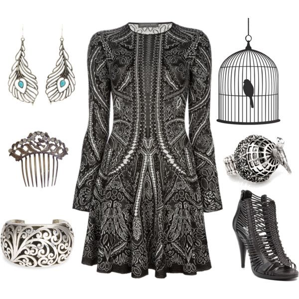 Bird In a Cage by white-raven on Polyvore featuring polyvore, fashion, style, Kelsi Dagger Brooklyn, Lois Hill, Club Manhattan, Lucky Brand and clothing