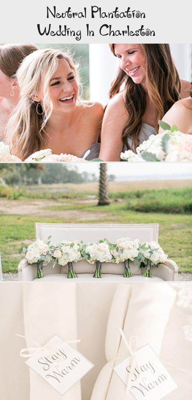 Neutral Plantation Wedding in Charleston - Inspired By This #WhiteBridesmaidDresses #PinkBridesmaidDresses #BridesmaidDressesIndian #BridesmaidDressesMauve #BridesmaidDresses2018