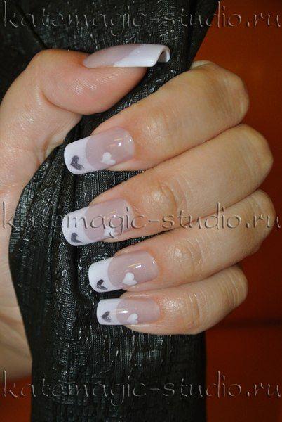 Маникюр, нейл-арт, укрепление своих ногтей, дизайн ногтей, рисунок на ногтях, shellac, шеллак, smoothing gel, смусинг, фрэнч, французский маникюр, романический маникюр. Студия KateMagic