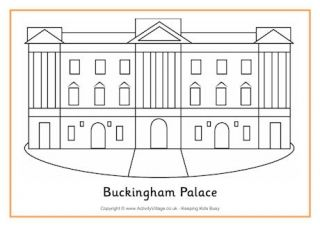 Buckingham Palace Colouring Page