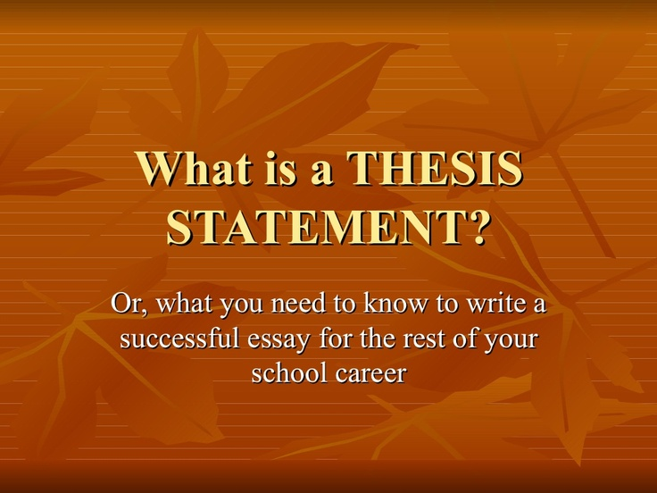 I need a good thesis for an essay i am writing. Help!?