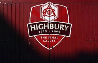 """The Final Salute to Highbury."" Highbury was the stadium for the Arsenal football club from 1913 - 2006."