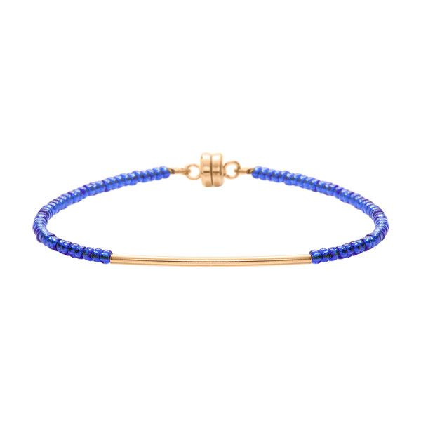 MINNIE GRACE Blue beaded friednship bracelet | La Luce