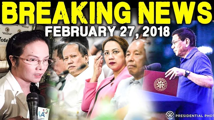 BREAKING NEWS TODAY FEBRUARY 27 2018 PAO CHIEF ACOSTA l DENGVAXIA l PNOY...
