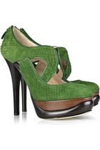 FENDI Gothic Romans cutout platform pumps £745Green Shoes, Fashion Shoes, Design Shoes, Shoes Addict, Platform Pump, Green Heels, Gothic Romans, Colors Heels, Green Colors