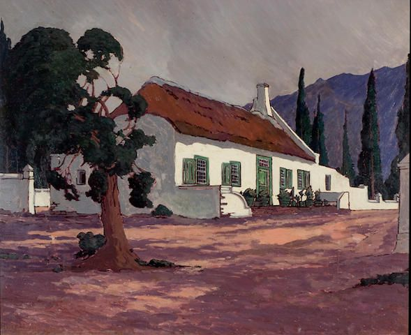 Jacob Hendrik Pierneef (South African, 1886-1957) The Old Drostdy, Tulbagh