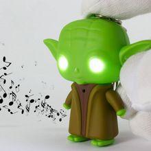 J206 belle! Nouvelle arrivée LED Star War Lightsaber Grandmaster Yoda Jedi Action Figure jouets avec son trousseau gros(China (Mainland))