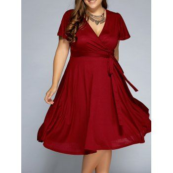 SHARE & Get it FREE | Plus Size Surplice Front Tie Swing DressFor Fashion Lovers only:80,000+ Items·FREE SHIPPING Join Dresslily: Get YOUR $50 NOW!
