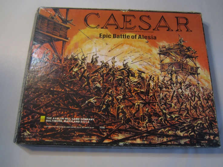 Vintage CAESAR EPIC BATTLE OF ALESIA GAME