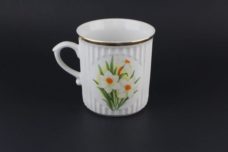 Vintage Original Bohemia Jonquil Flower Of The Month March Coffee Cup Mug #OriginalBohemia