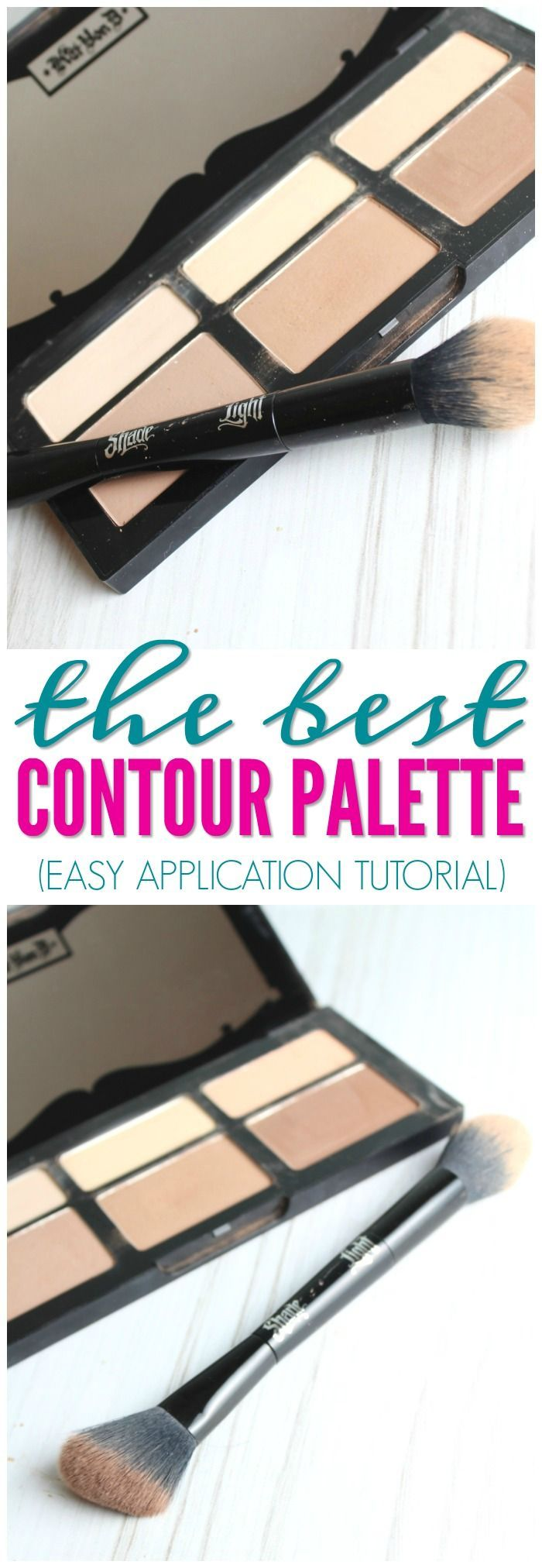 The Best Contour Palette for Summer! Here is my honest review of the Kat Von D Shade  Light Contour Palette and Brush! A favorite for summer or wedding makeup!
