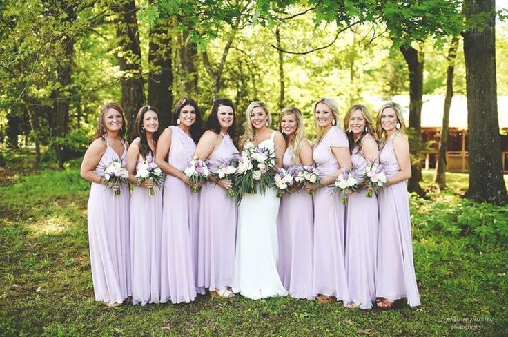 Lilac infinity bridesmaids dresses | Glamorous lilac & gold barn wedding | The Barn at Twin Oaks Ranch | Stephanie Parsley Photography